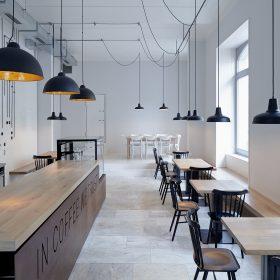 Vynalézavý interiér karlínského bistra