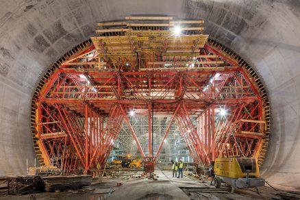 Tunelové bednění s rekordními rozměry