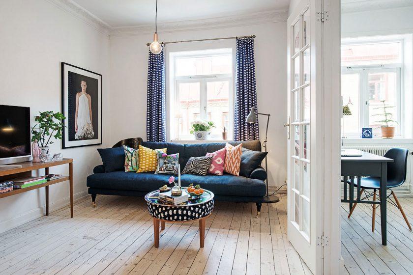 Rekonstrukce malého bytu se skandinávským šarmem