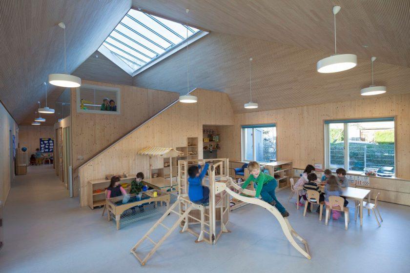 Děti k udržitelnosti vychovává budova školky