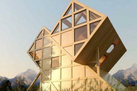 Atypický dům v horách může být útulným útočištěm pro rodinu i horolezce