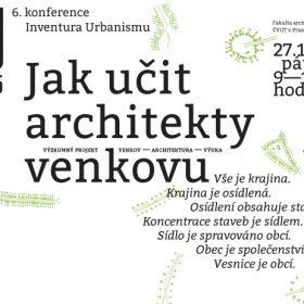 Konference Jak učit architekty venkovu?