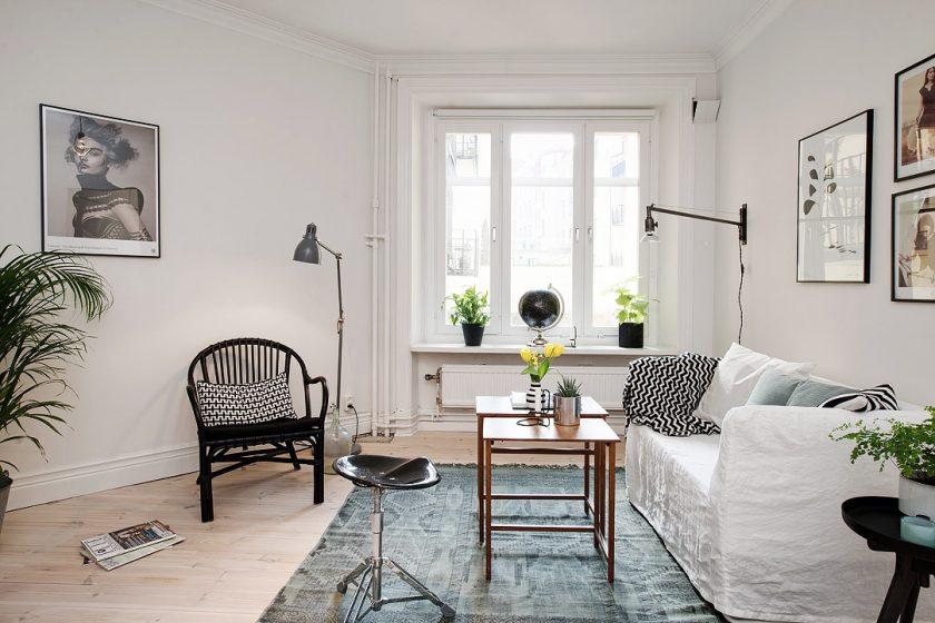 Vzdušný, příjemný a nízkonákladový byt ve skandinávském stylu