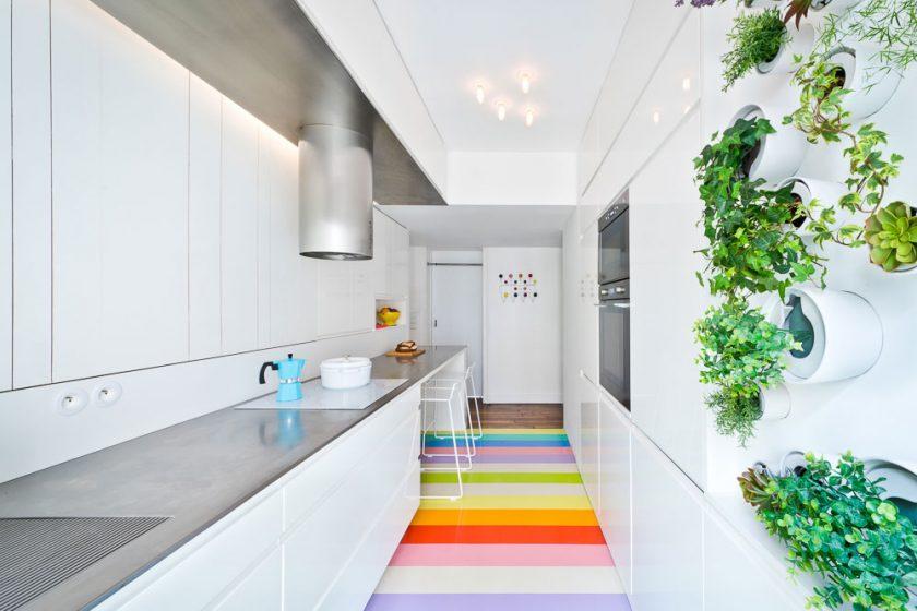 Malý byt s bylinkovou zahrádkou
