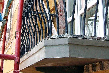 Sanace balkonové desky