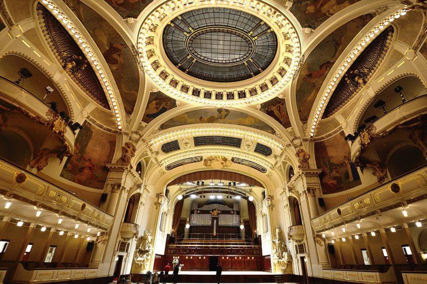Podlahářský koncert ve Smetanově síni Obecního domu