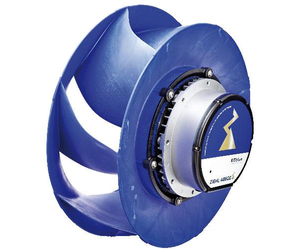 Radiální EC ventilátory svolně oběžnými koly ZAvblue