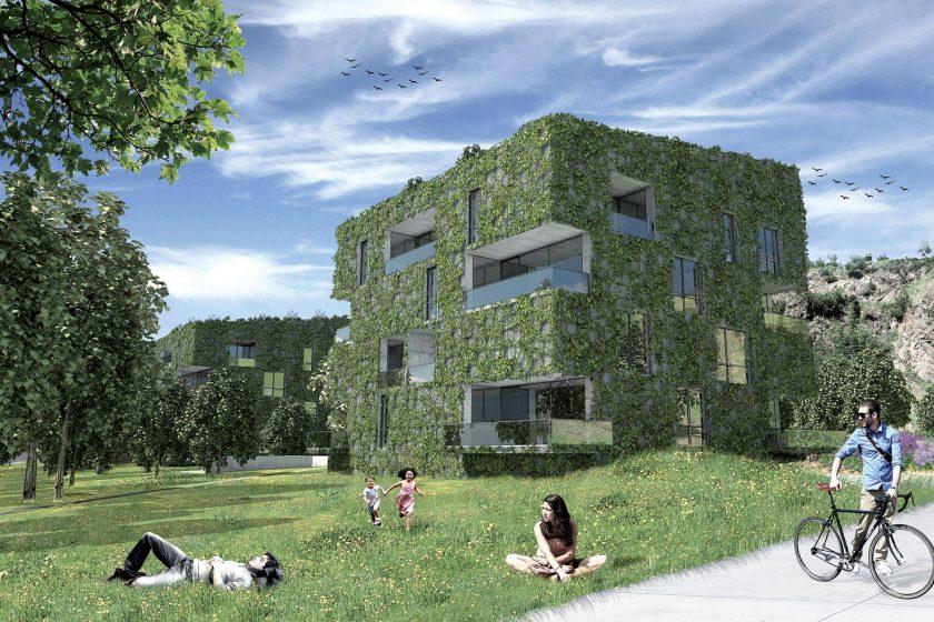 Bytové domy v Libni: ekologické bydlení a zelené fasády