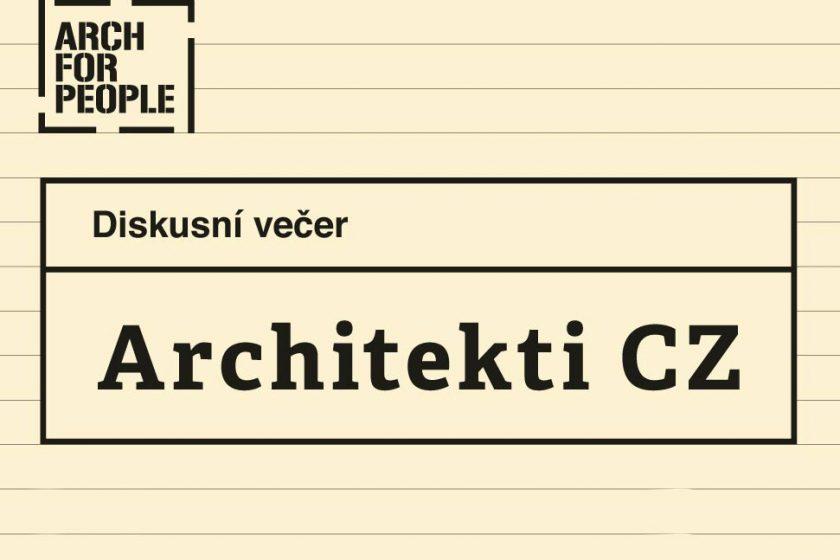 Architekti CZ – čtvrtá panelová diskuze předních českých architektů