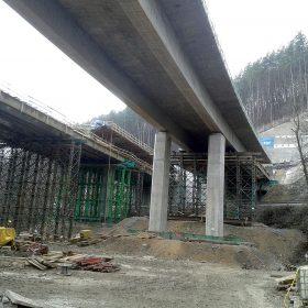 Realizace mostních staveb na dálnici D3 v úseku Žilina Strážov – Žilina Brodno