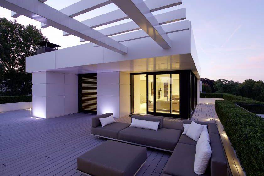 Bydlení nad střechami Hamburku