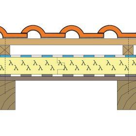 Parozábrana z těžkého asfaltovaného pásu nebo lehkého typu