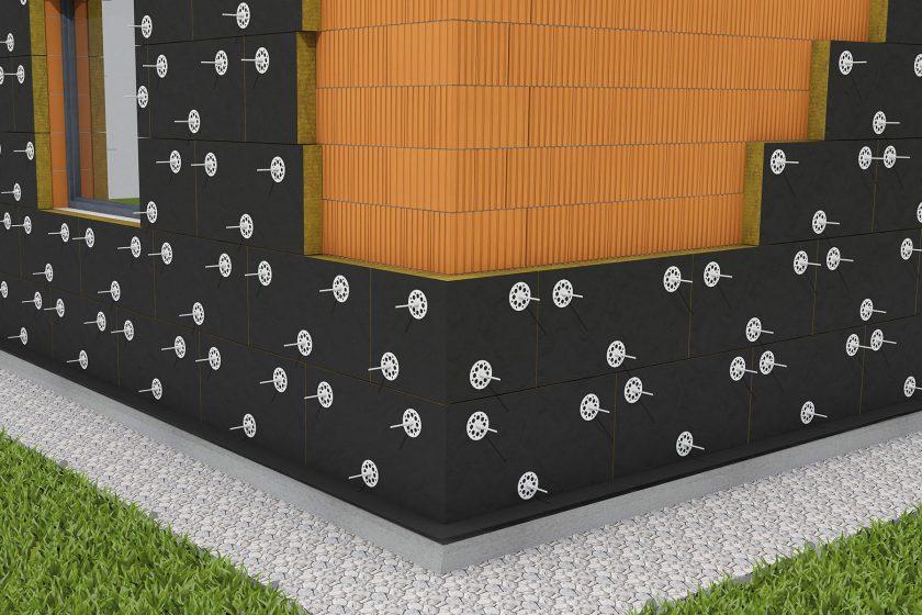 Zateplení sendvičové stěny izolantem z kamenné vlny