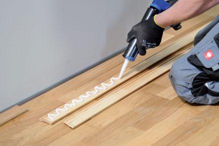 Lepení dřevěné podlahy