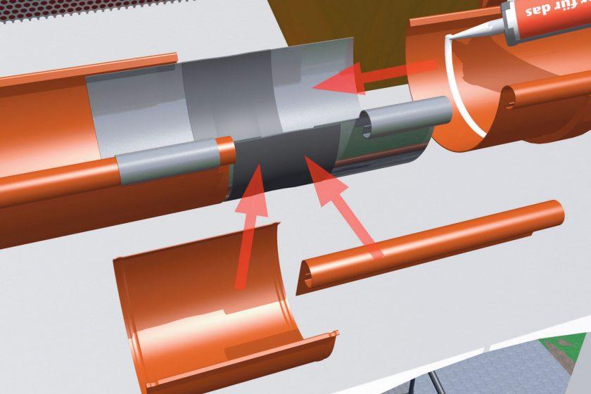 Okapové systémy – řešení hliníkových žlabových spojů