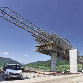 Vysoké technologie pro stavbu přemostění vodní nádrže Hričov