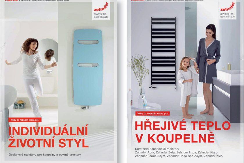 Nové katalogy a novinky designových radiátorů Zehnder