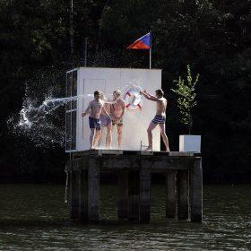 Sauna uprostřed přehrady (už není)
