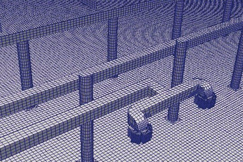 Provozní větrání podzemní autobusové stanice