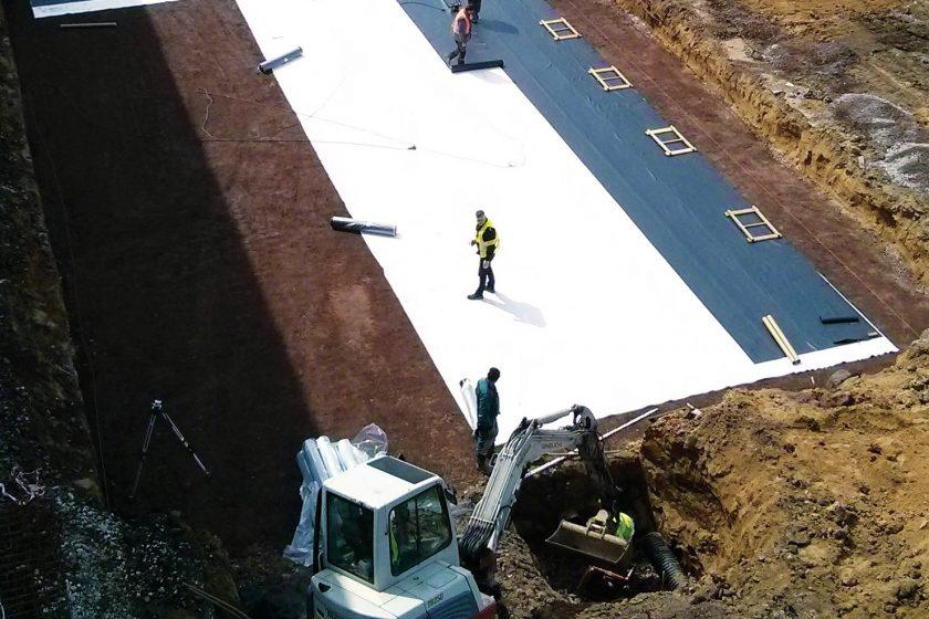 Efektivní odvodnění nového areálu v Ostravě