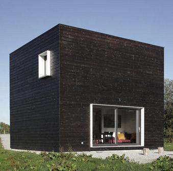 Letní dům ve tvaru kostky