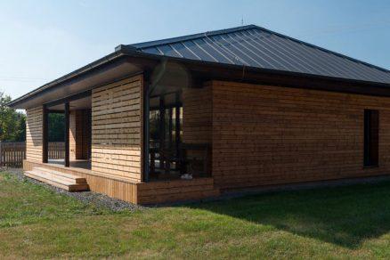 Pasivní dřevostavba s harmonickým interiérem