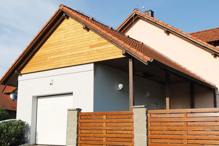 Dřevěná fasáda solejovým nátěrem
