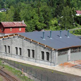 Záchrana lokomotivní výtopny v železniční stanici Kořenov