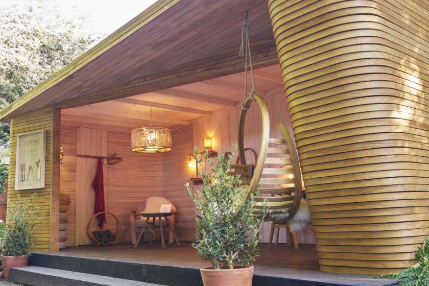 Záhradní domek z ohýbaného dřeva