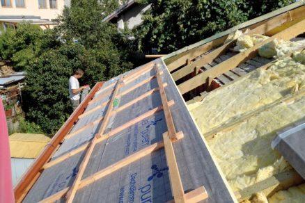 Rekonstrukce šikmé střechy rodinného domu