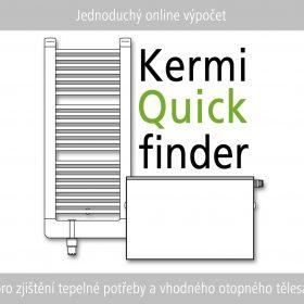 Kermi Quickfinder - jednoduchá kalkulace pro zjištění tepelné potřeby a vhodného otopného tělesa