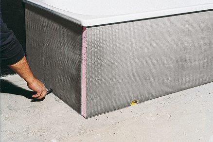 Vytvoření nosného podkladu pod obklad a dlažbu nenasákavou tepelněizolační deskou