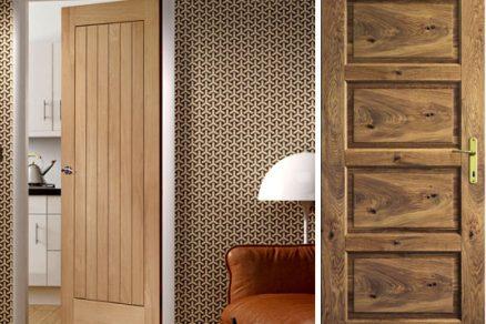 Dřevěné dveře dělají teplo domova