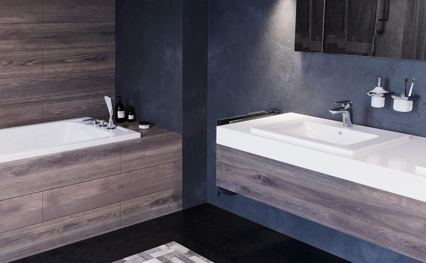 Kreativní a moderní - design módní koupelny