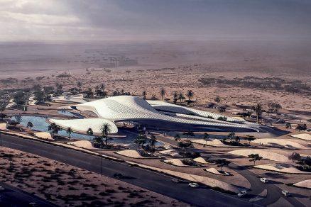 Duny v poušti na východě Spojených arabských emirátů od Zahy Hadid