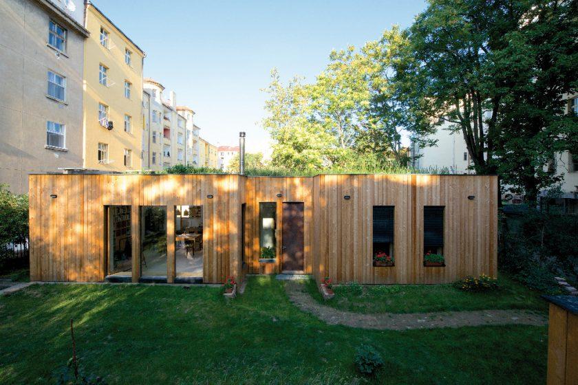 Pasivní dům s mokřadní střechou