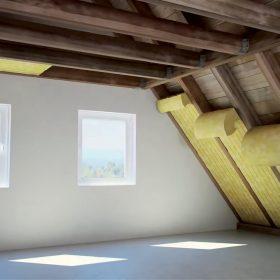 Výstavba podkroví se sádrovláknitou deskou
