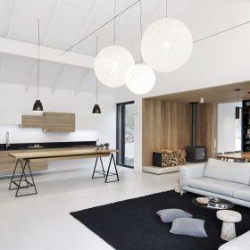 Koncept archetypálního domu ve skandinávském stylu