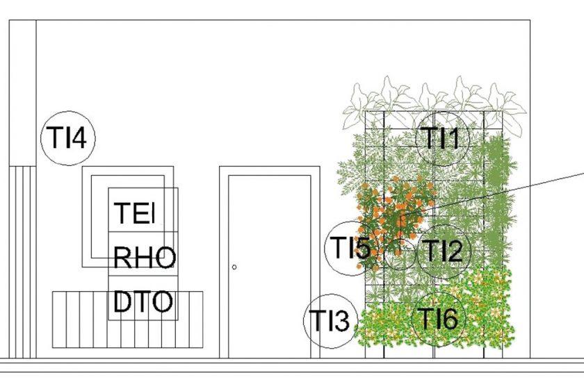 Efekt interiérové, rostlinami porostlé stěny na teplotu v místnosti