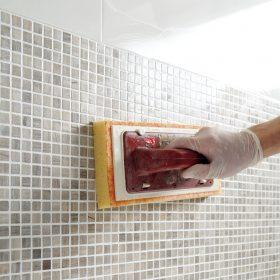 Spárování mozaiky epoxidovou maltou