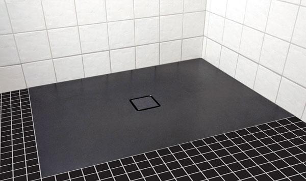 Instalace smaltované extra ploché sprchové vaničky