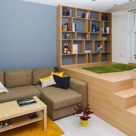 Jednopokojový byt na třech úrovních