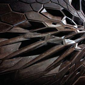 Kosmické kamenné stěny od Zahy Hadid