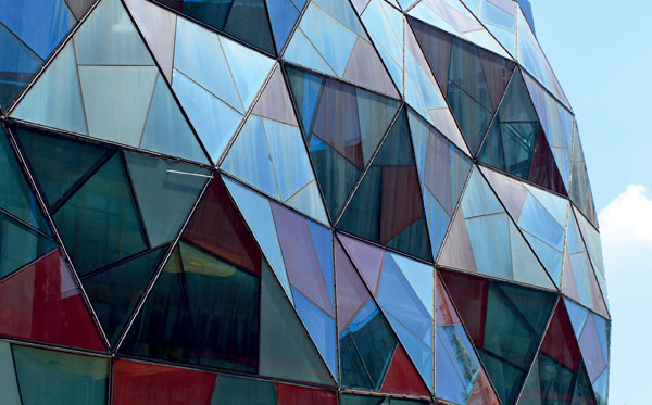 Krystal uprostřed Šanghaje