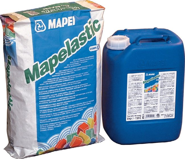 Mapelastic – pružná cementová izolace