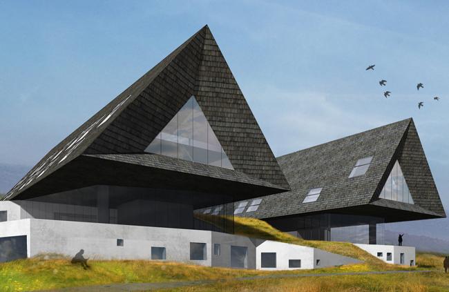 Masivní střecha jako interpretace tradiční architektury