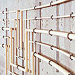 Materiály vodovodů uvnitř budov