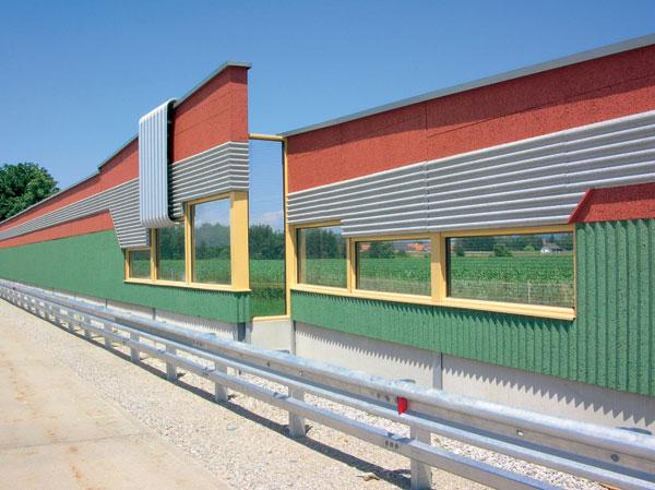 Mechanizace při realizaci protihlukových stěn