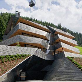Měděná horská chata Dolomitenblick
