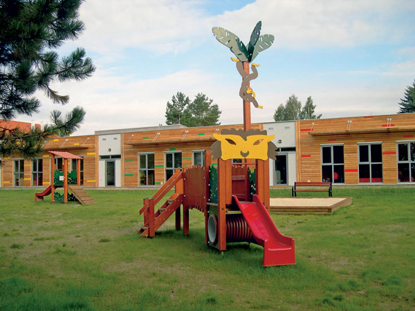 Modulová dřevěná mateřská škola